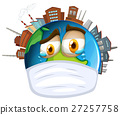 Environmental theme with world and pollution 27257758