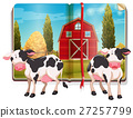 Book with cows in the farm 27257799