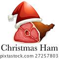 Christmas ham wearing hat 27257803