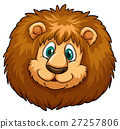 Lion head with happy face 27257806
