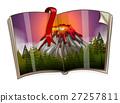 Book with volcano scene 27257811