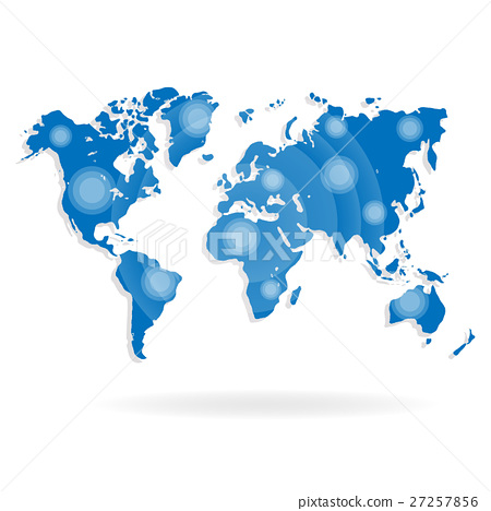 World Map For Website On A White Background Stock Illustration