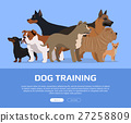 Dog Training Concept Flat Style Vector Web Banner  27258809