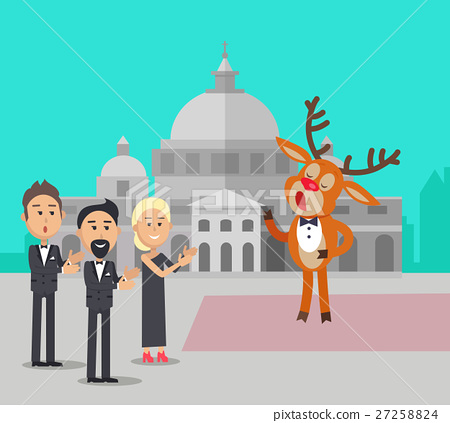 Deer Singing Song Near Conservatory Reindeer Opera 27258824
