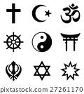 Nine symbols of World religions 27261170