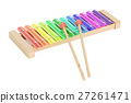 Colored Xylophone, 3D rendering 27261471