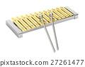 Golden xylophone, 3D rendering 27261477