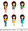 vector, girl, cartoon 27262557