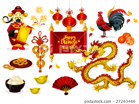 Chinese New Year greeting poster design 27263466