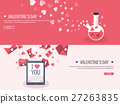 Vector illustration. Flat background with tablet 27263835