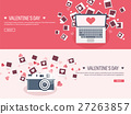 Vector illustration. Flat background with photos 27263857