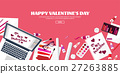 Valentines Day. Workplace with table. Design 27263885