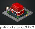 isometric, cinema, building 27264929
