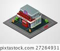 isometric, cinema, building 27264931