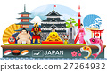 japan infographic travel place and landmark Vector 27264932
