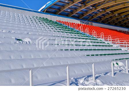 Background chairs at stadium , winter 27265230