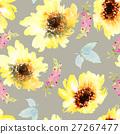 Sunflowers seamless pattern. 27267477