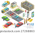 Parking Isometric Elements Set 27268863