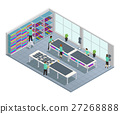 Clothes Factory Isometric Composition  27268888