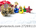 Christmas decorations background 27269113