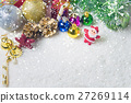Christmas decorations background 27269114