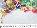 Christmas decorations background 27269116