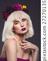 girl flower portrait 27270135