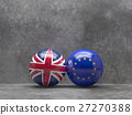 Flags of the United Kingdom and the European Union 27270388