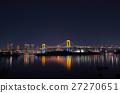 在彩虹顏色點燃的彩虹橋樑 27270651