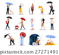 People With Umbrellas Collection  27271491