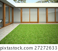 Yard with lawn 3D rendering 27272633