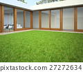 Yard with lawn 3D rendering 27272634