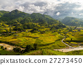Vietnamese valley with rice fields and villages 27273450