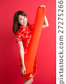 beauty woman wear cheongsam 27275266