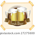 Poster advertising fresh beer 27275600