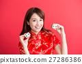 beauty woman wear cheongsam 27286386