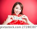 beauty woman wear cheongsam 27286387