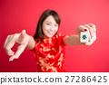 beauty woman wear cheongsam 27286425