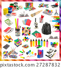 Collection of stationery and school supplies 27287832