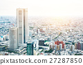 panoramic city skyline aerial view in Tokyo, Japan 27287850
