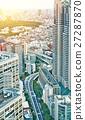 panoramic city skyline aerial view in Tokyo, Japan 27287870