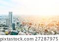 Aerial skyline city view in Tokyo, Japan 27287975