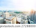 Aerial skyline city view in Tokyo, Japan 27288000