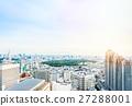 Aerial skyline city view in Tokyo, Japan 27288001