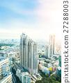 Aerial skyline city view in Tokyo, Japan 27288003