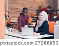 Multiracial contemporary business people working 27288853