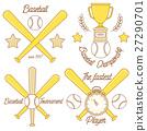Baseball line logo design 27290701