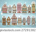 Old european houses (Winter) 27291382