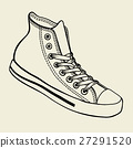 shoe, vector, sneakers 27291520