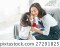 康乃馨 母親節 父母和小孩 27291825